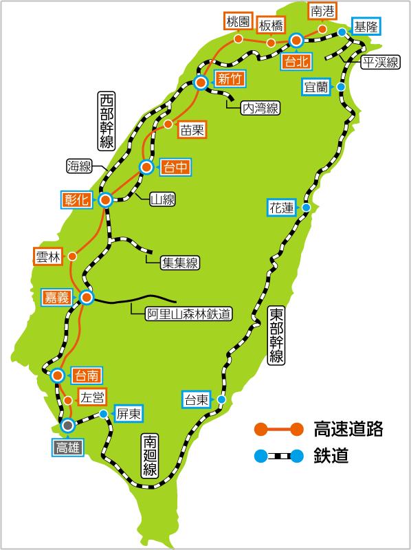 台湾 新幹線路線 画像