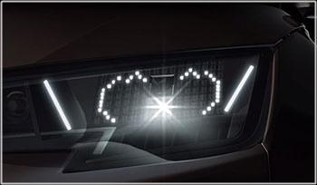 マトリクス顔文字LEDヘッドライト